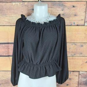 H&M off shoulders crop top shirt size medium